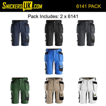 Snickers 6141 AllRoundWork Stretch Holster Pocket Shorts Pack
