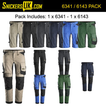 Snickers AllRoundWork Stretch Non Holster Pocket Trousers & Shorts Pack