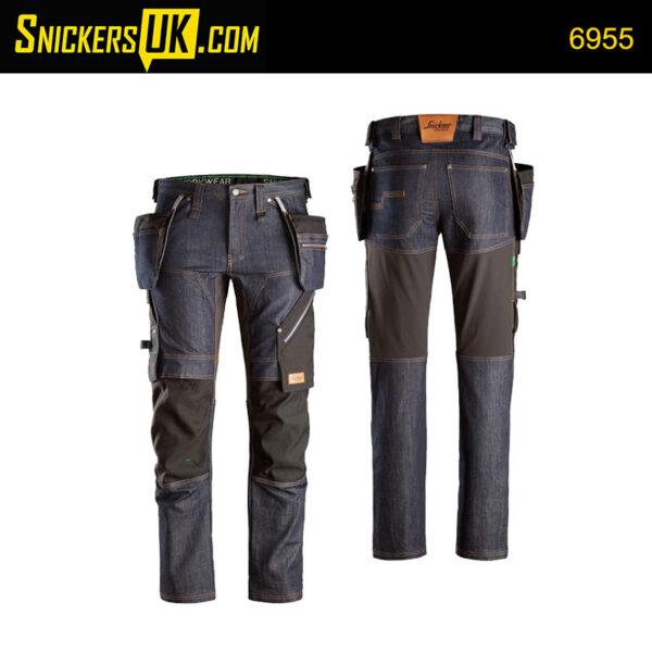 Snickers 6955 FlexiWork Denim Holster Pocket Trousers