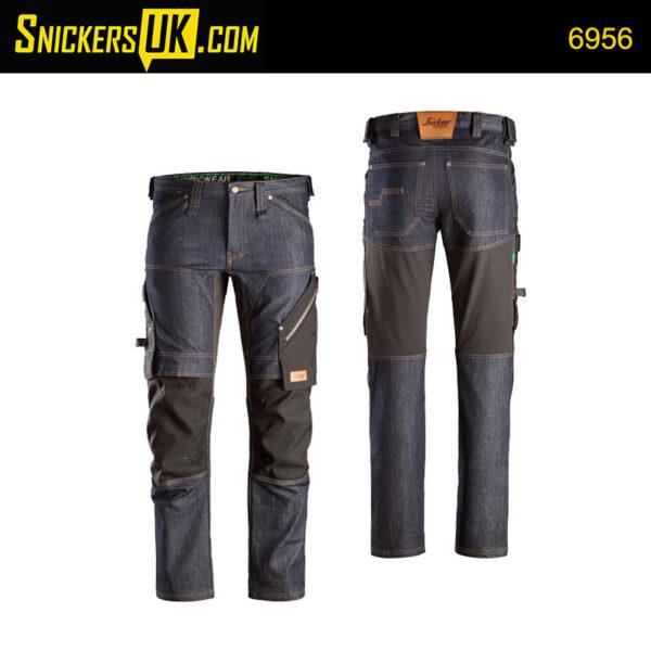 Snickers 6956 FlexiWork Denim Non Holster Pocket Trousers
