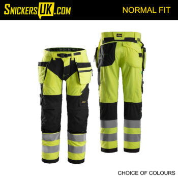 Snickers 6932 FlexiWork Hi-Vis Holster Pocket Trousers
