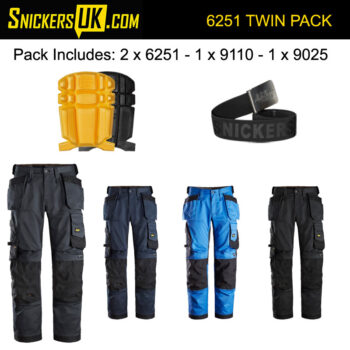 Snickers 6251 AllRoundWork Stretch Loose Fit Holster Pocket Trousers Pack