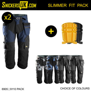 Snickers 6905 FlexiWork Holster Pocket 3/4 Pirate Trousers Pack