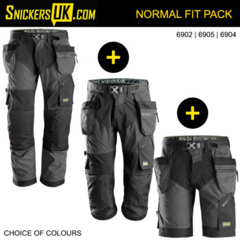 Snickers FlexiWork Holster Pocket Trousers & Shorts Triple Pack