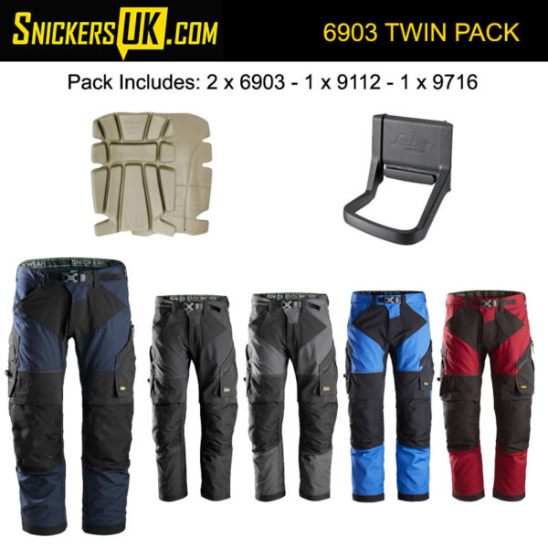 Snickers 6903 FlexiWork Non Holster Pocket Trousers Pack
