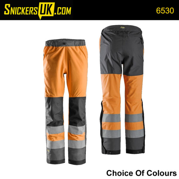 Snickers 6530 AllRoundWork Hi-Vis Shell Trousers