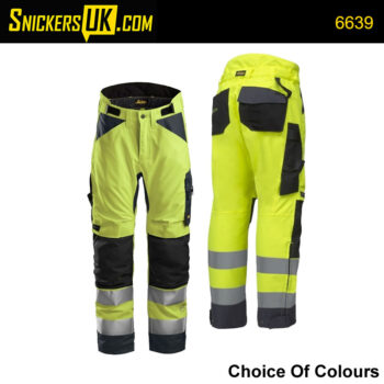 Snickers 6639 AllroundWork Hi Vis 37.5 Insulated Trousers