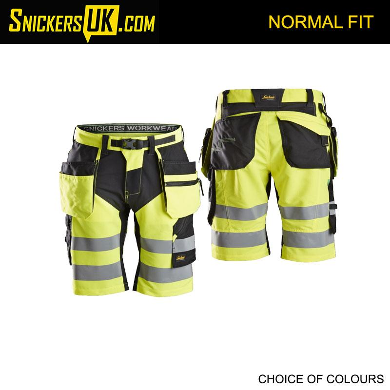 Snickers 6933 FlexiWork High Vis Holster Pocket Shorts