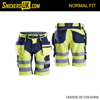 Snickers 6933 FlexiWork High Vis Holster Pocket Shorts