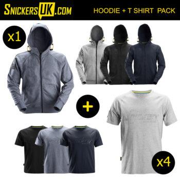 Snickers Logo Zip Hoodie & T Shirt Pack