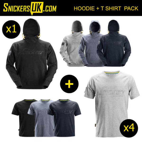 Snickers Logo Hoodie & T Shirt Pack
