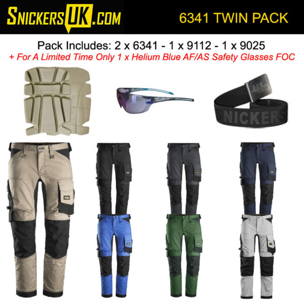 Snickers 6341 AllRoundWork Stretch Non Holster Pocket Trousers Pack