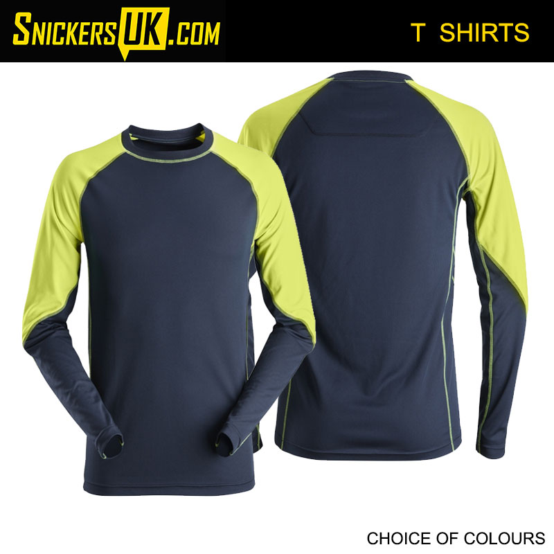 Snickers 2405 Neon Long Sleeve T Shirt