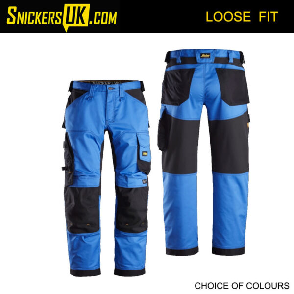Snickers 6351 AllRoundWork Stretch Loose Fit Non Holster Pocket Trousers