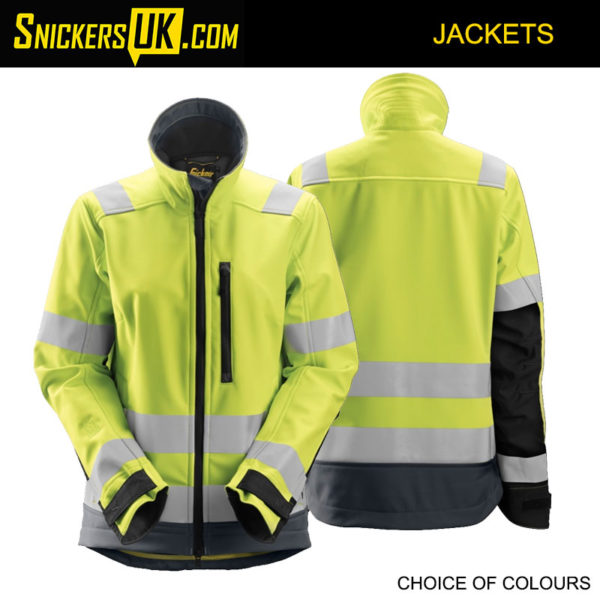 Snickers 1237 AllRoundWork Women's High Vis Soft Shell Jacket - High Vis Jackets