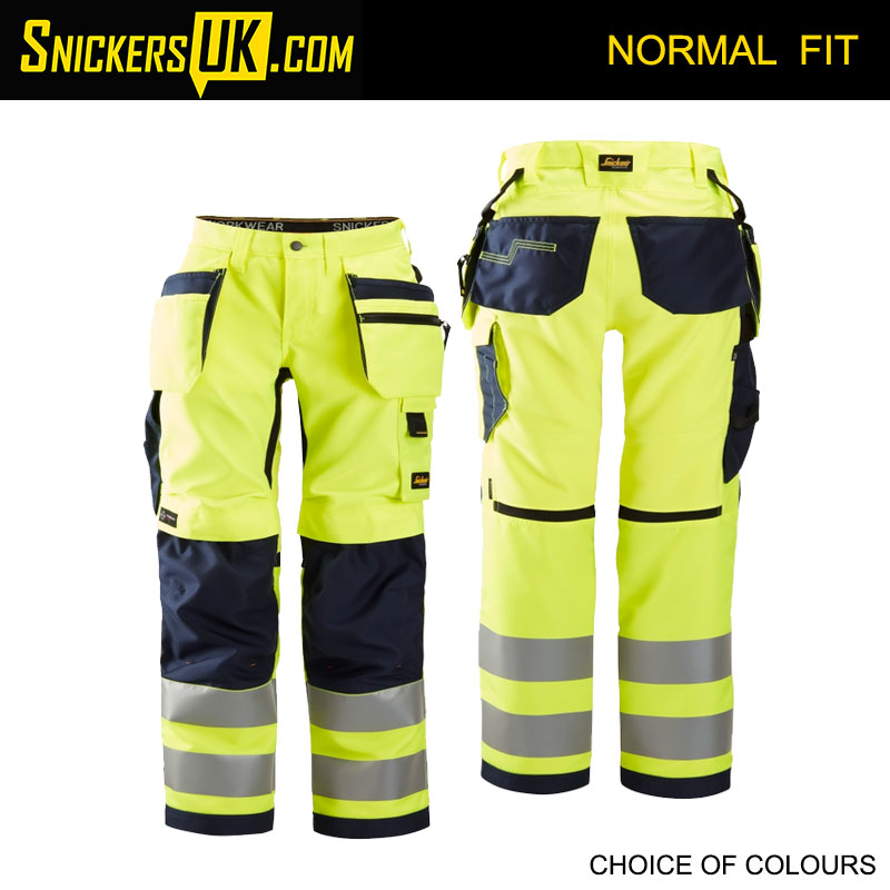Snickers 6730 AllRoundWork Women's High Vis Holster Pocket Trousers