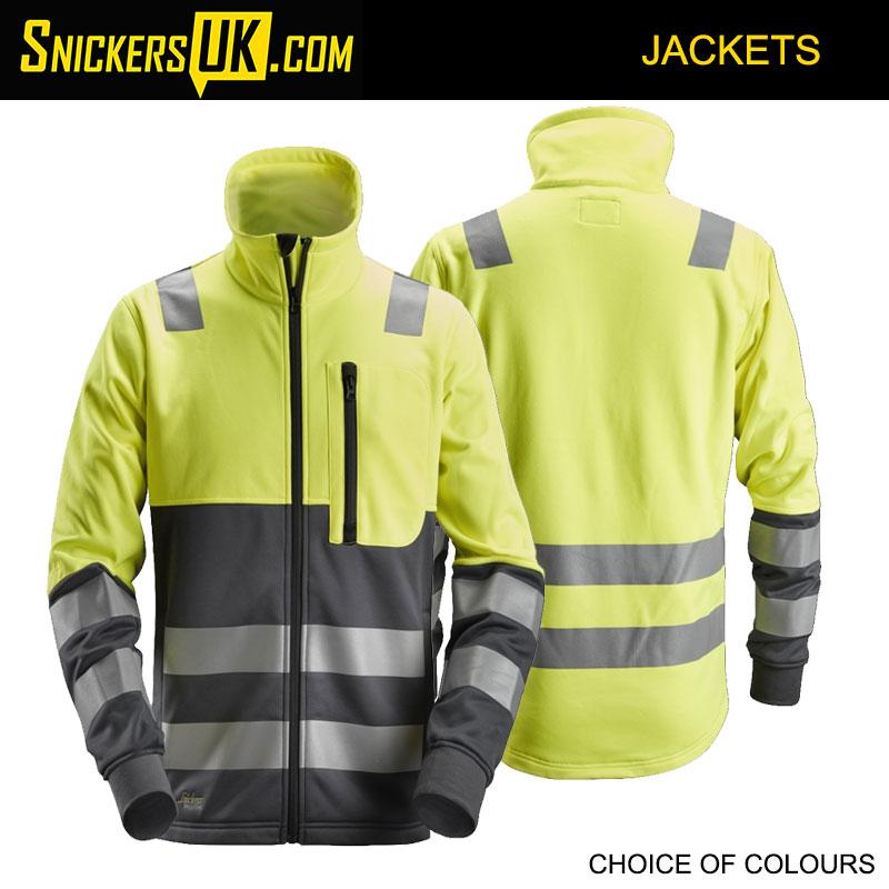 Snickers 8035 AllroundWork, High-Vis Full Zip Jacket - Snickers Hi Vis Jackets