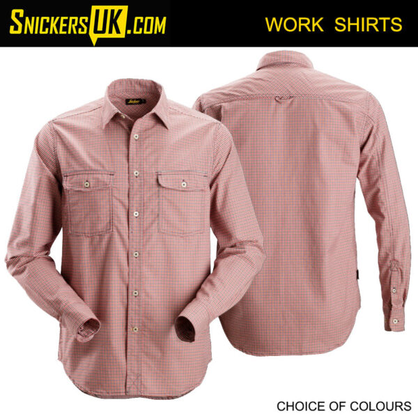 Snickers 8507 AllRoundWork Comfort Checked Long Sleeve Shirt