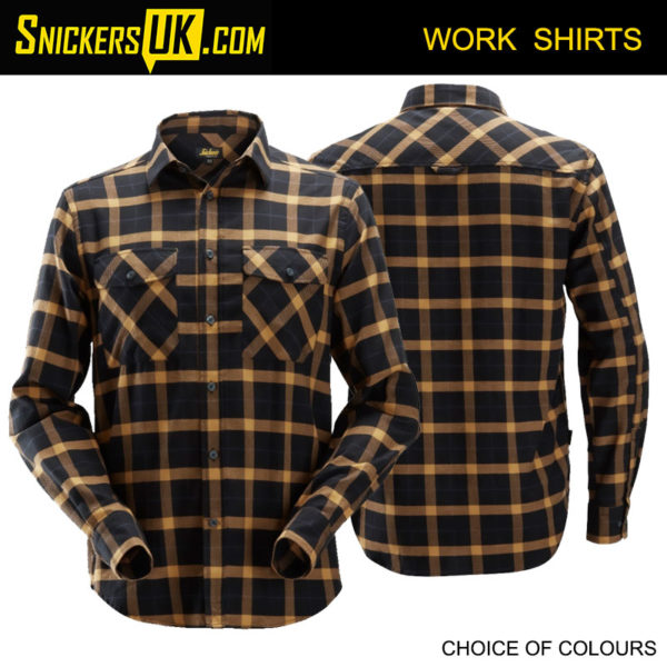 Snickers 8516 AllRoundWork Flannel Long Sleeve Checked Shirt | Snickers Workwear