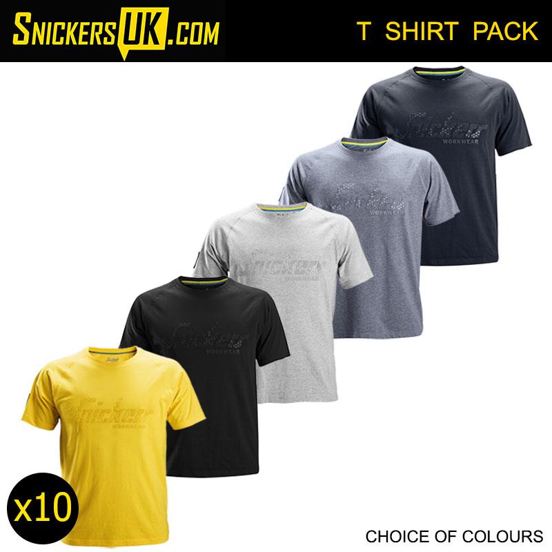 Light Grey Melange Snickers 2580 Logo T-Shirt