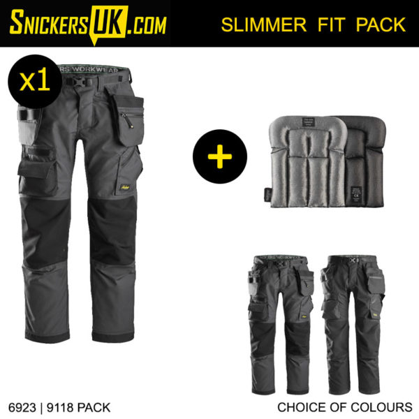 Snickers 6923 FlexiWork FloorLayers Holster Pocket Trousers - Snickers Floor Layers Trousers