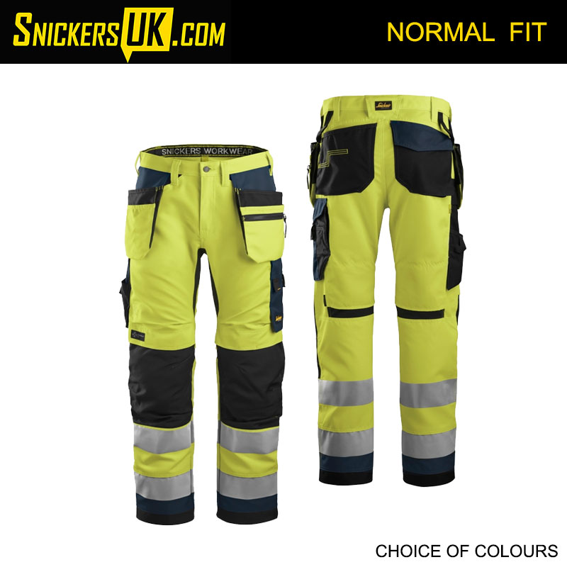 Snickers 6230 AllRoundWork Hi-Vis Holster Pocket Trousers