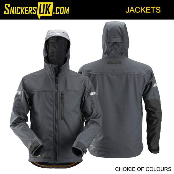 Snickers 1229 AllRoundWork Soft Shell Hooded Jacket | Snickers Jackets