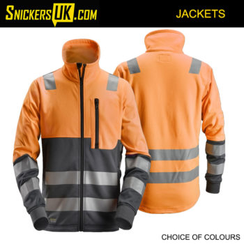 Snickers 8035 AllroundWork, High-Vis Full Zip Jacket - Snickers Hi Vis Jackets
