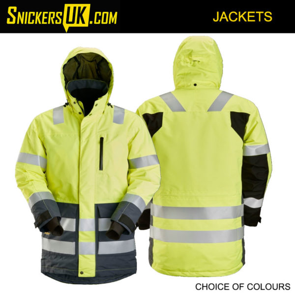 Snickers 1830 AllRoundWork High Vis Waterproof Parka