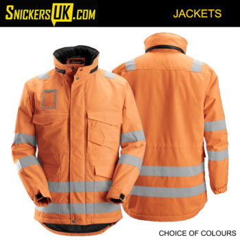 Snickers 1823 High-Vis Winter Long Jacket | Snickers Hi-Vis Jackets