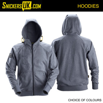 Snickers 2880 Zipped Logo Hoodie - Snickers Hoodies