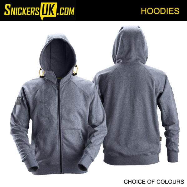Snickers 2880 Zipped Logo Hoodie - Snickers Hoodies