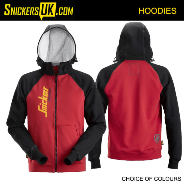 Snickers 2888 Logo Zipped Hoodie - Snickers Hoodies