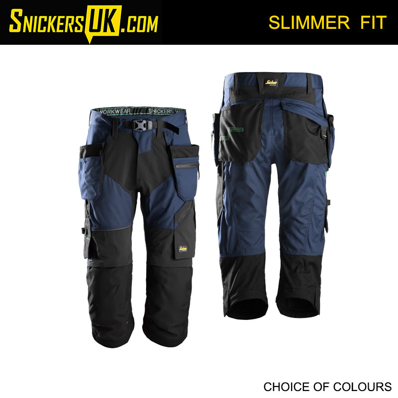 Snickers 6905 FlexiWork Holster Pocket 3/4 Pirate Trousers