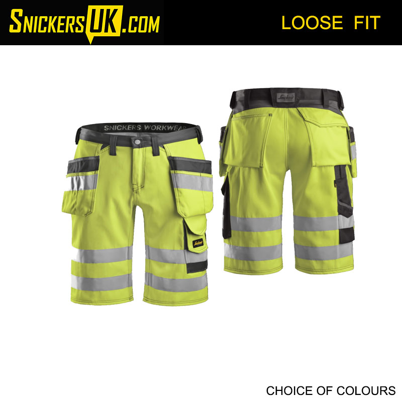Snickers 3033 High Vis CL1 Holster Pocket Shorts