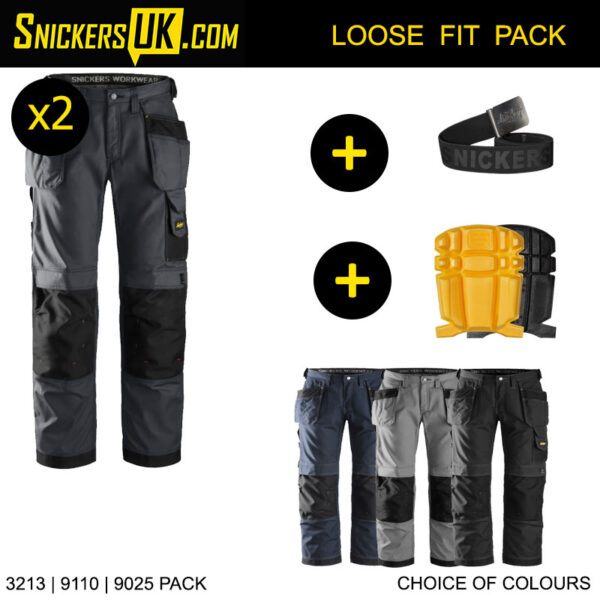 Snickers 3213 Rip Stop Holster Pocket Trousers - Snickers Workwear