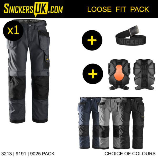 Snickers 3213 RipStop Holster Pocket Trousers - Snickers Workwear