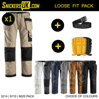 Snickers 3214 Canvas+ Holster Pocket Trousers - Snickers Workwear