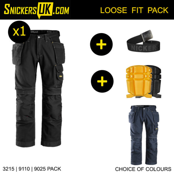 Snickers 3215 100% Cotton Holster Pocket Trousers