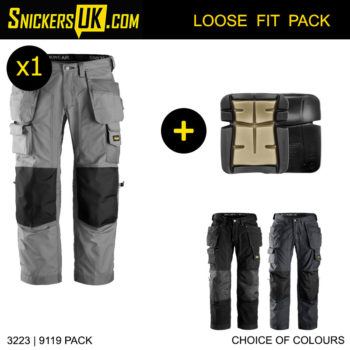 Snickers 3223 FloorLayers Holster Pocket Trousers - Snickers Work Trousers