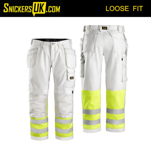 Snickers 3234 Painter's High-Vis Holster Pocket Trousers - Snickers Hi Vis Trousers