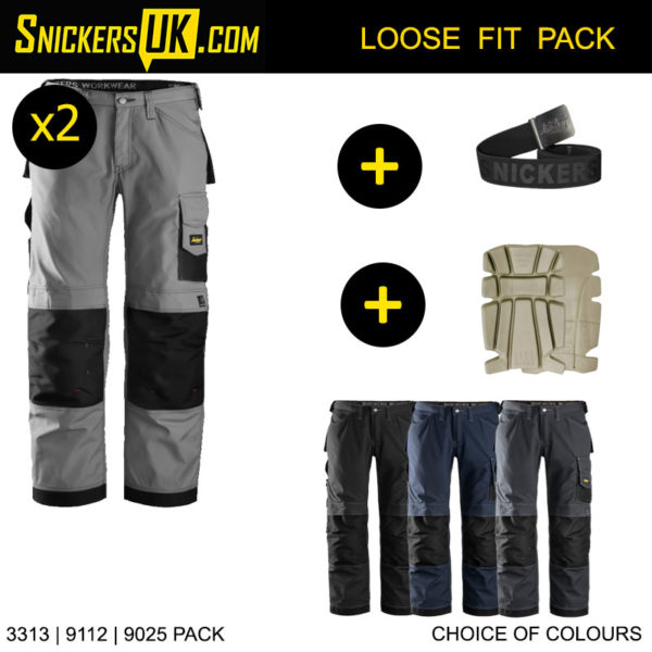 Snickers 3313 Rip Stop Non Holster Pocket Trousers - Snickers Workwear