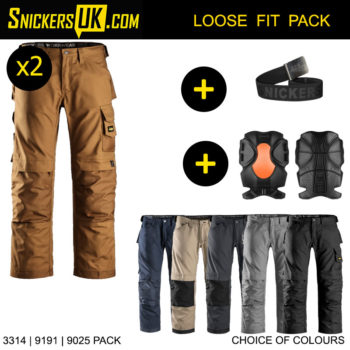 Snickers 3314 Canvas+ Non Holster Pocket Trousers - Snickers Workwear