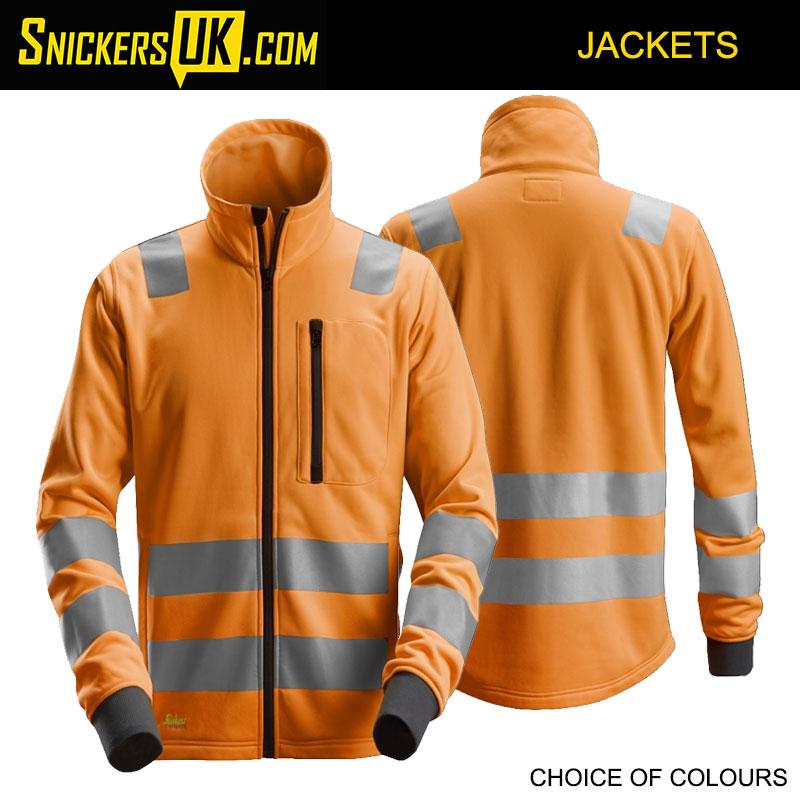 Snickers 8036 AllroundWork High-Vis Full Zip Jacket - Snickers Hi Vis Jackets