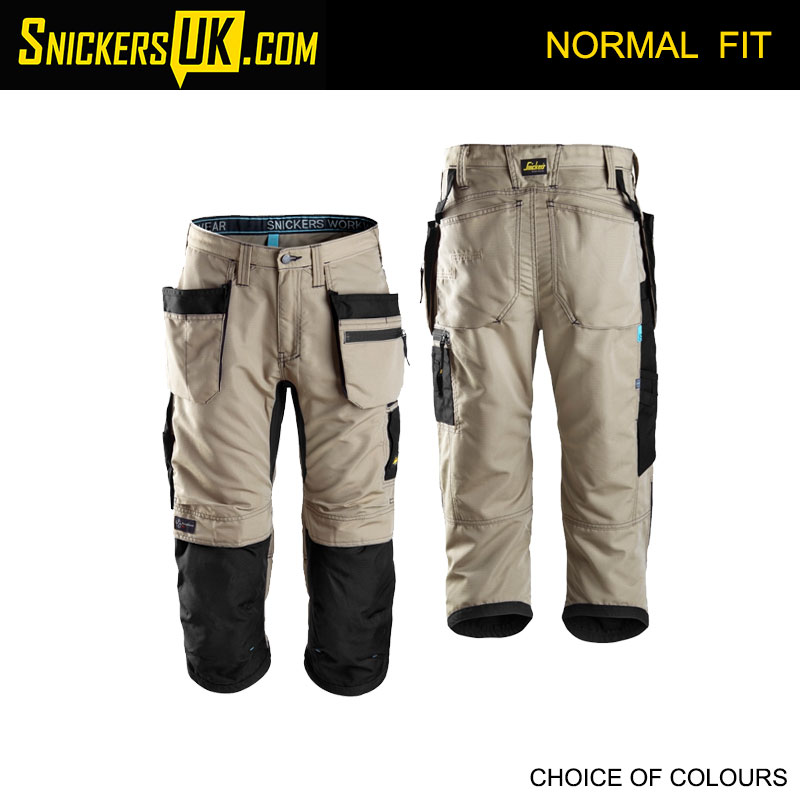Snickers 6103 LiteWork 37.5 Holster Pocket 3/4 Pirate Trousers - Snickers Work Trousers