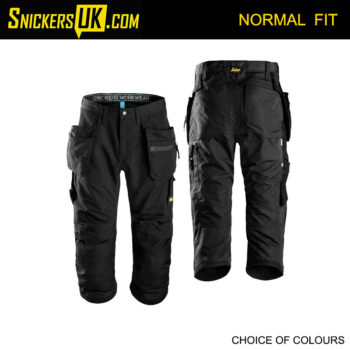 Snickers 3/4 Length 6103 Litework 37.5 Trousers - Snickers Work Trousers