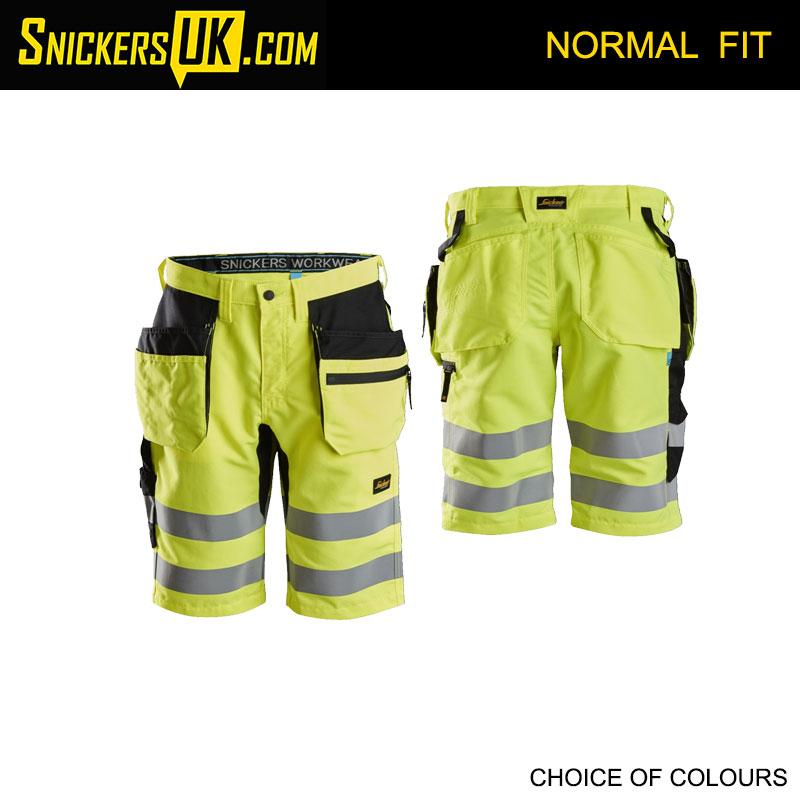 Snickers 6131 LiteWork High Vis Holster Pocket Shorts