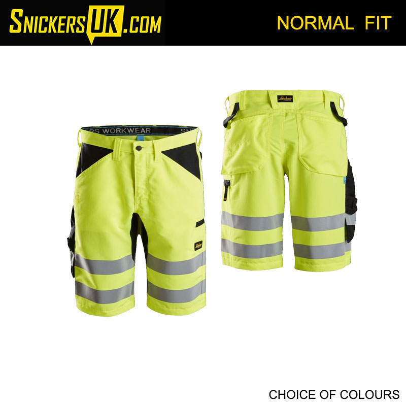Snickers 6132 LiteWork High Vis Non Holster Shorts - Snickers Hi-Vis Shorts