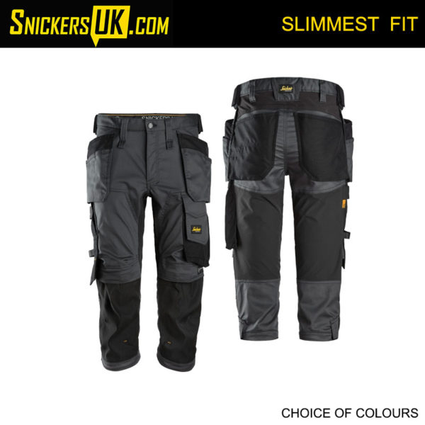 Snickers 6142 AllRoundWork Stretch Holster Pocket 3/4 Pirate Trousers