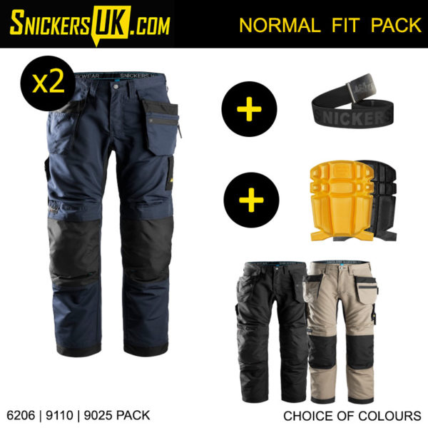 Snickers 6206 LiteWork Euro Holster Pocket Trousers Pack - Snickers Work Trousers